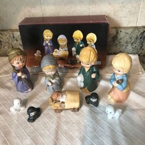 Childrens nativity set made in taiwan
